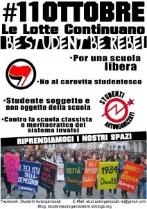 11 ottobre Studenti Autorganizzati Reggio Emilia - La lotta continua!