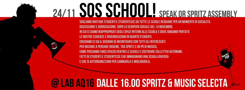 speakORspritz - SOS School Studenti Autorganizzati Reggio Emilia